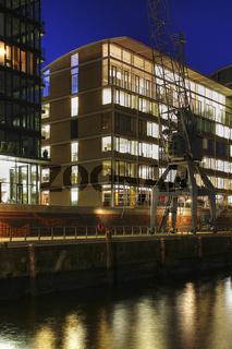 Buerogebaeude in der Hafencity am Dalmannkai, Hamburg, Deutschland, Offiice Buildings in district named harbour-city, Hamburg, Germany