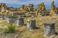 Part Of The Ancient Ruined City Of  Aphrodisias, Anatolia Turkey