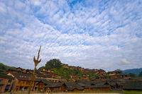 Xijiang Miao Minority Village Hill Houses
