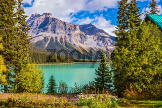 Autumn day on the Emerald Lake