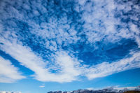 Blue sky and cirrus clouds