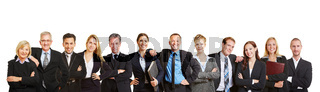 Panorama mit Business Team und Geschäftsleuten