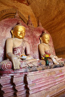 Buddha statue inside of Temple at Bagan
