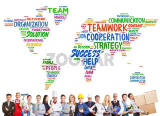 Vielfalt und Zusammenarbeit mit vielen Berufen