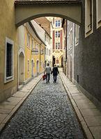 kleine Gasse in Dresden