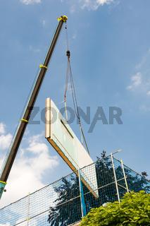 Assembling a prefabricated house