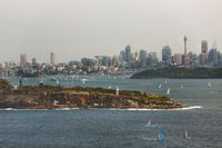 Sydney city view from North Head
