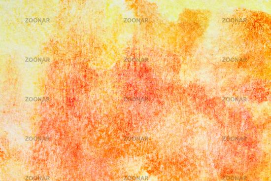 Orange hand-drawn watercolor background