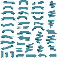 Blue Web Ribbon Set