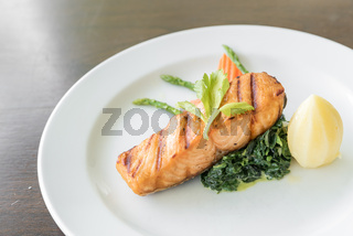 Fried Salmon Steak
