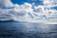 Marlborough Sounds view from a ferry, New Zealand