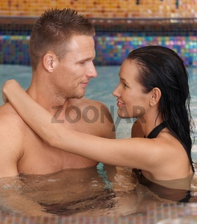 Spa couple in love