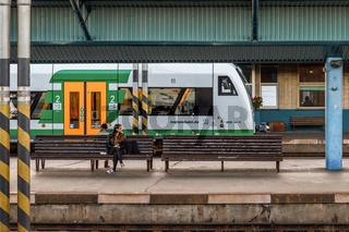 Vogtlandbahn in Cheb (Tschechien)
