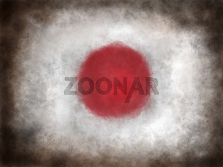 flagge von japan auf grunge hintergrund - illustration