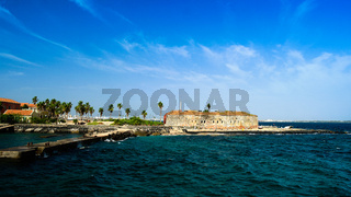 Slavery fortress on Goree island, Dakar Senegal