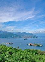 die Borromaeischen Inseln mit der Isola Bella,Lago Maggiore,Piemont,Italien