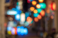 Big city lights bokeh background