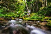 small cascading waterfall