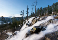 Emerald Bay on Lake Tahoe with Lower Eagle Falls