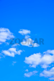 Blue sky with clouds - natural background