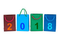 Shopping bags and numbers 2018