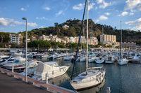 Marina in Blanes Town in Spain