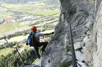 sportlicher Klettersteiggeher
