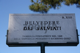 Rom, Aussichtspunkt Belvedere Dei Salviati