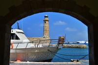 Rethymno lighthouse landmark