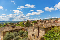Idyllic village in Tuscany, Italy