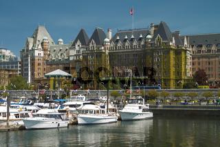 The Fairmont Empress Hotel in Victoria British Columbia Canada