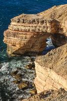 View of scenic natural bridge in Kalbarri National Park, Western Australia