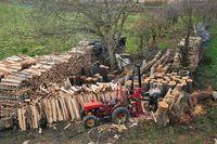 Brennholz Verarbeitung und Lagerung