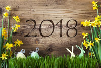 Easter Decoration, Gras, Text 2018