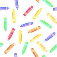 Colorful Pencil Seamless Pattern