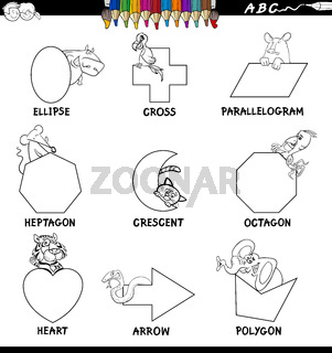 educational basic shapes set color book