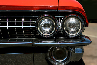 red classic us car