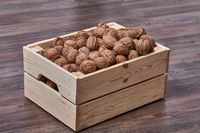 Walnuts in a chest