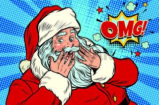 OMG surprise Santa Claus reaction