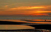 Wunderschöner Sonnenuntergang in St. Peter Ording