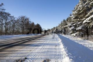 Cars ridden snow a