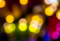 Abstract defocused christmas light background