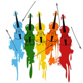 Violins background