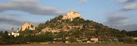 Arta Mallorca Balearen Kirche Spanien abends Panorama