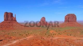 Mitten Buttes & Merricks Butte, Monument Valley, Arizona, USA
