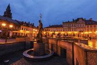 Neptun Fountain on Main Square in Bielsko-Biala