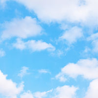 Spring sky with clouds - background