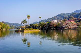 Kandy city lake, Sri Lanka