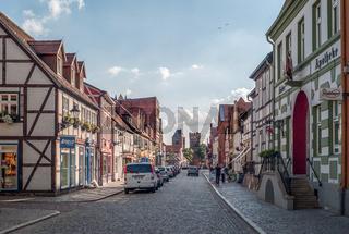 Lange Strasse in Tangermünde (Sachsen-Anhalt)