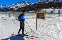 Startboxen für Teilnehmer am Engadin Skimarathon